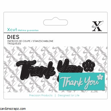 XCut Mini Sentiment Die (3pcs) Thank You