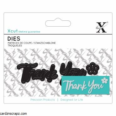XCut Mini Sentiment Die (3pcs) Thank You