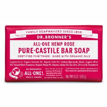 Dr Bronner's  Rose Soap Bar   140g