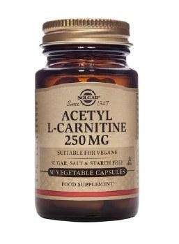 Solgar Vitamins Acetyl L-carnitine 250mg 30 caps