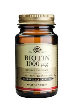 Solgar Vitamins Biotin 1000mcg  50 vcaps