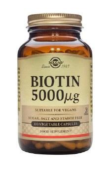 Solgar Vitamins Biotin 5000mg  100 Vegicaps