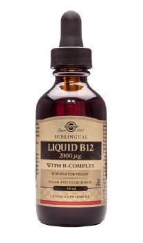 Solgar Vitamins Liquid B12 2000ug 59ml