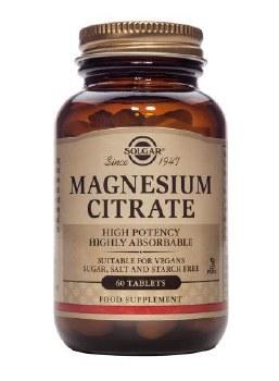 Solgar Vitamins Magnesium Citrate  60 tabs