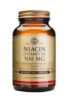 Solgar Vitamins Niacin 500mg Vegicaps 100