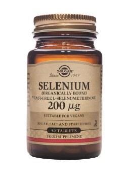 Solgar Vitamins Selenium 200mcg (Yeast Free) 50 tabs