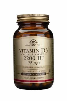 Solgar Vitamins Vitamin D3  2200iu 100 caps
