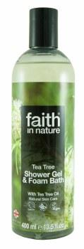 Faith in Nature Tea Tree Shower Gel & Foam 400mls