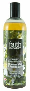 Faith in Nature Hemp & Meadowfoam Shower/Bath 400ml