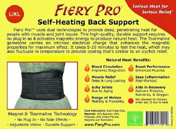 Fiery Pro Fiery Pro Back Support - L/XL S/M