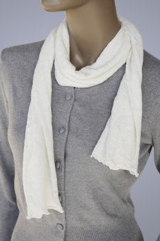 Healing Bamboo Bamboo Charcoal Scarf Ivory