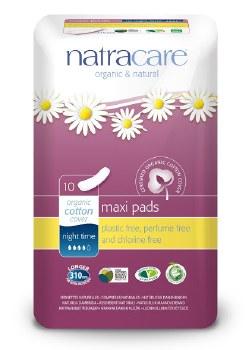 Natracare Night time press pad 10 box