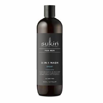 Sukin 3 in 1 Men's Sport Wash 500ml