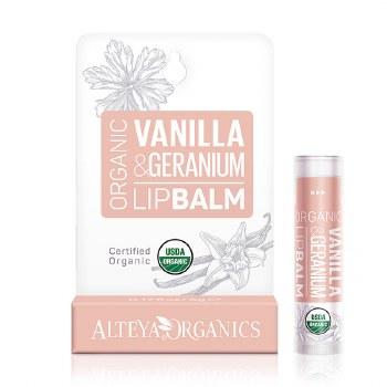 Alteya Organics Vanilla and Geranium Lip Balm 5g