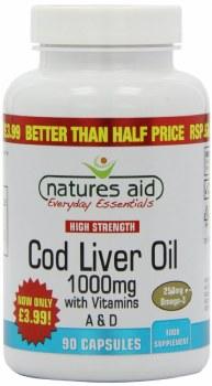 Natures Aid Cod Liver Oil 1000mg 90 caps
