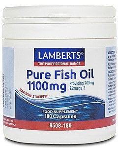 Lamberts Pure Fish Oil 1100mg 180 Capsules