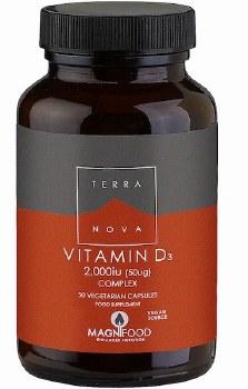 TerraNova Nutrition Vitamin D3 2000iu Complex   50 vcaps