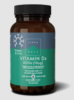 TerraNova Nutrition Green Child Vitamin D3 400iu