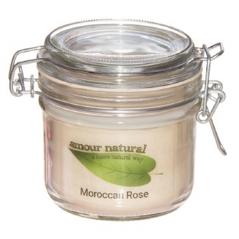 Amour Natural Aroma Candle Moroccan Rose