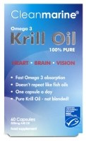 Cleanmarine Krill Oil 60 x 500mg 60 caps