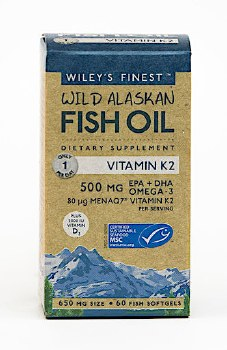 Wiley's Finest UK Vitamin K2 (500mg EPA and DHA) 60gelcaps