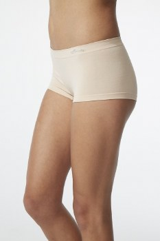 Boody Organic Bamboo Eco Wear Women's Boy Leg Brief -Nude Medium/Large (UK Size 10-12)