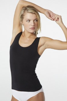 Boody Organic Bamboo Eco Wear Ladie's Tank Top - Black Medium (UK Size 10-12)