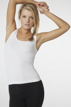Boody Organic Bamboo Eco Wear Ladie's Tank Top - White Small (UK Size 8-10)
