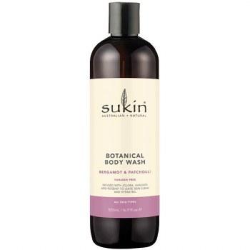 Sukin Bergamot & Patchouli Body Wash 500ml