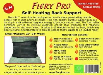 Fiery Pro Fiery Pro Back Support - S/M S/M