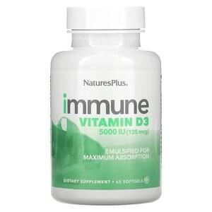 Natures Plus Immune Vitamin D3 5000iu 60