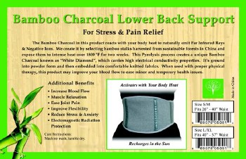 Healing Bamboo Lower Back Support M/L