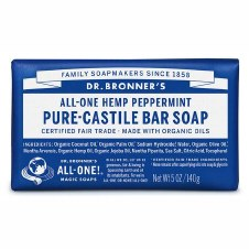 Dr Bronner's Magic Soap Peppermint Soap Bar   140g