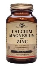 Solgar Vitamins Calcium Magnesium & Zinc 100 tabs