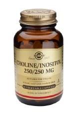 Solgar Vitamins Choline/Inositol 250/250mg 50 Vcaps