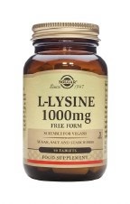 Solgar Vitamins L-lysine 1000mg  50 tabs