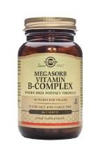 Solgar Vitamins Megasorb B-Complex  100 Tablets