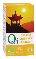 Qi Organic Green Tea & Ginger 25bag