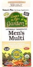 Nature's Plus Organic Garden Men's Multi 90 vegecaps