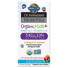 Garden of Life Organic Kids+ 5 Billion 30 Chewables
