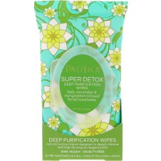 Pacifica Super Detox Purification Wipes 30 Wipes