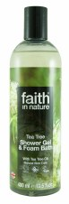 Faith in Nature Tea Tree Shower Gel & Foam 400mls