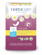Natracare Super press-on pads 12pads
