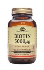 Solgar Vitamins Biotin 5000 mcg 50 Vegicaps