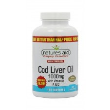 Natures Aid Cod Liver Oil 1000mg 180 caps