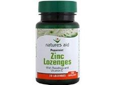 Natures Aid Zinc Lozenges (Peppermint) 30 tablet