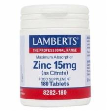 Lamberts ZINC 15mg (as Citrate) 180