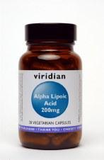 Viridian Alpha Lipoic Acid 200mg 30 vcaps