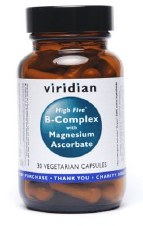 Viridian High Five B Complex / Vit C 30 vcaps