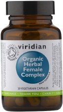 Viridian Organic Herbal Female Complex 30 Vcaps
